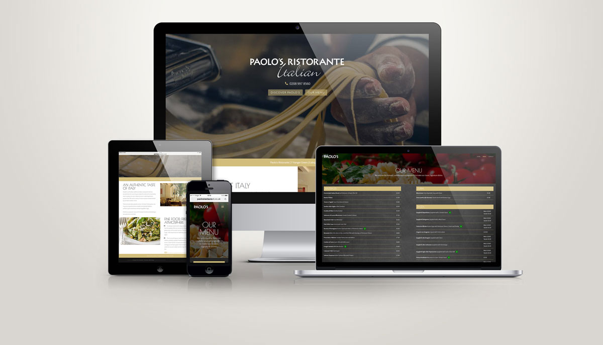 One of Octopus' web design projects - Paolo's Italian Restaurant