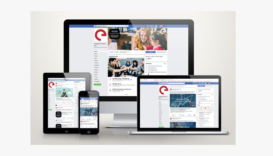 A montage of Octopus' social media design work
